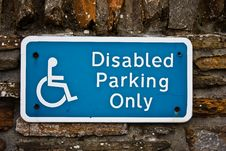 Free Disable Parking Stock Photos - 16727323