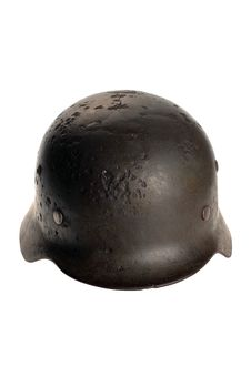 Free Rusty German Battle Helmet Royalty Free Stock Photography - 16728007