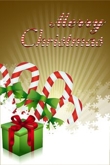 Free Merry Christmas With Gifts And Candies Stock Images - 16728114