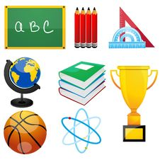 Free Set Of Education Elements Stock Photos - 16728143