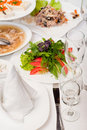 Free Served Restaurant Table Royalty Free Stock Photo - 16730165