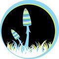 Free Blue Striped Mushrums Royalty Free Stock Photos - 16734688