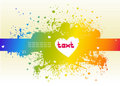 Free Colorful Stain And Heart Stock Photo - 16736330