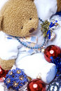 Free Soft Bear With Christmas Decorations Royalty Free Stock Images - 16739899
