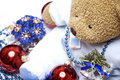 Free Soft Bear With Christmas Decorations Stock Photography - 16739902