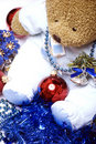 Free Soft Bear With Christmas Decorations Stock Photography - 16739912