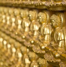 Free Many Golden Buddha Statue Stock Photos - 16730783