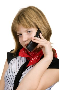 Free Talks On Telephone Stock Photos - 16730963