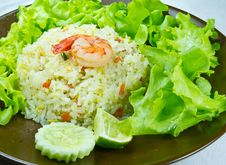 Free The Fried Rice And Shrimp Royalty Free Stock Image - 16731226