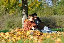 Free Family In Park On Autumn Stock Photos - 16731443