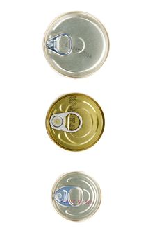 Three Tins Of The Bank Royalty Free Stock Photo