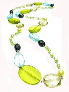 Free Yellow And Blue Colored Beads Stock Image - 16731891