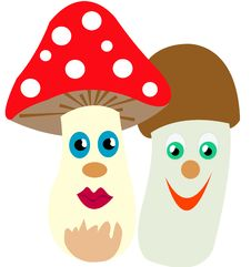 Free Two Mushrooms Stock Image - 16732791