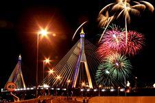 Free Fireworks Bridge Opening The Bridge. Royalty Free Stock Photography - 16732987