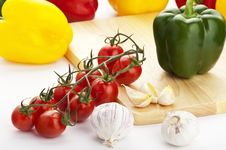 Fresh And Healthy Vegetables Stock Photo