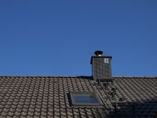 Free Gray Roof And Chimney Stock Photography - 16733772