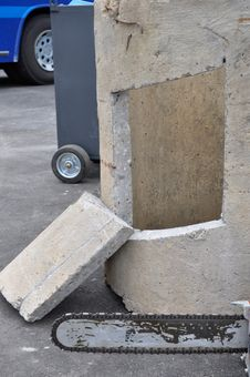 Free Concrete And Saw Royalty Free Stock Image - 16734656