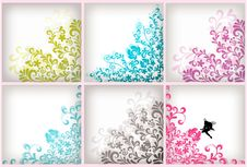 Free Soft Floral Background Set Stock Images - 16734934