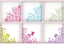 Free Soft Floral Background Set Royalty Free Stock Images - 16734949