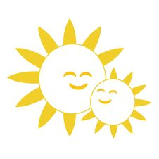 Free Happy Smiling Suns Stock Image - 16735011