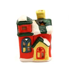 Free Ceramic Candlestick Multi-colored Small House Royalty Free Stock Photos - 16735058