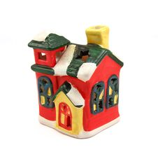 Free Ceramic Candlestick Multi-colored Small House Stock Photography - 16735092