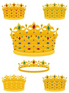Free Golden Crowns Stock Photo - 16735240