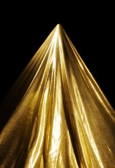 Free Abstract Gold Fabric Fold Royalty Free Stock Image - 16735586