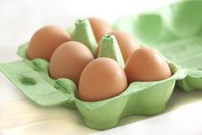 Free Half A Dozen Eggs Royalty Free Stock Photo - 16735905