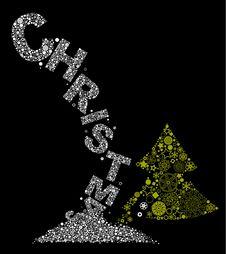 Free Christmas Tree And Snowflakes Stock Photo - 16736480
