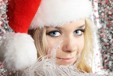 Free Girl In Santa Cloth Stock Image - 16737011