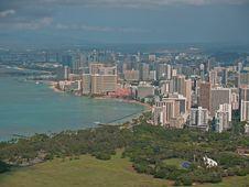 Free Top Of Diamond Head Volcano In Hawaii Royalty Free Stock Photography - 16737147