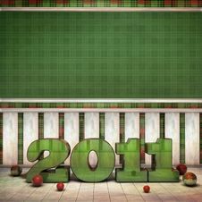 Green 2011 Room Royalty Free Stock Photography
