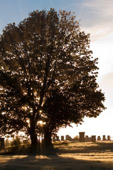 Free Serene Cemetery At Sunrise Stock Photos - 16737963