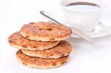 Raisin Bagel Stock Images