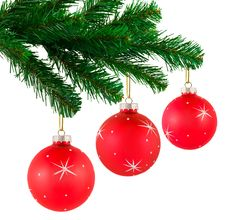 Free Christmas Tree And Balls Royalty Free Stock Images - 16738379