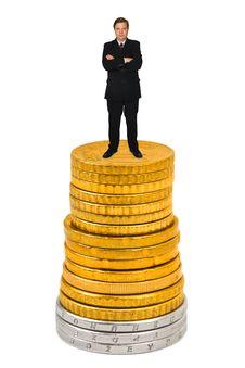Free Businessman On Money Stack Stock Photos - 16738393