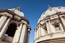 Free Exterior View Of Two, Old Church Domes Stock Image - 16739191