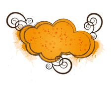 Free Orange Cloud Frame Royalty Free Stock Photo - 16739365