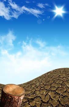 Large Field Of Baked Earth After A Long Drought Royalty Free Stock Images