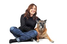 Free Malinois And Woman Royalty Free Stock Photos - 16739768