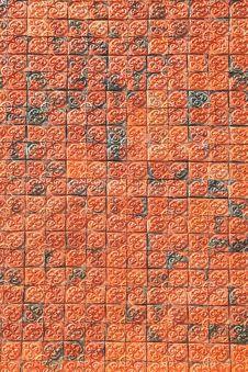 Free Ornamental Red Brick Wall Royalty Free Stock Photos - 16739828