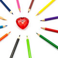 Free Colorful Heart Royalty Free Stock Image - 16744536