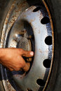 Free Wheel   Car  Hand   Worker Stock Photos - 16745553