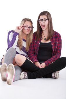 Free Young Trendy Teenagers Royalty Free Stock Photography - 16740497