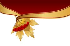 Free Background With Autumnal Leaves Royalty Free Stock Images - 16740649