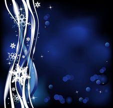 Free Christmas Blue Background Stock Photography - 16740832