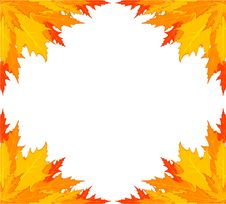 Free Background With Autumnal Leaves. Royalty Free Stock Photography - 16740837