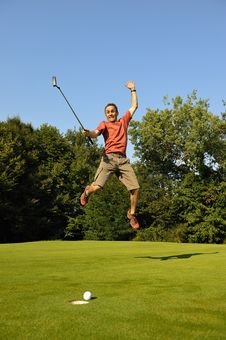 Free Happy Golfer Stock Images - 16741334