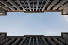 Free The Sky Between Buildings. Royalty Free Stock Images - 16741399